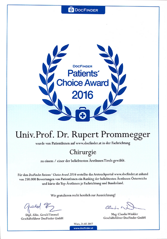 Patienten Choice Award